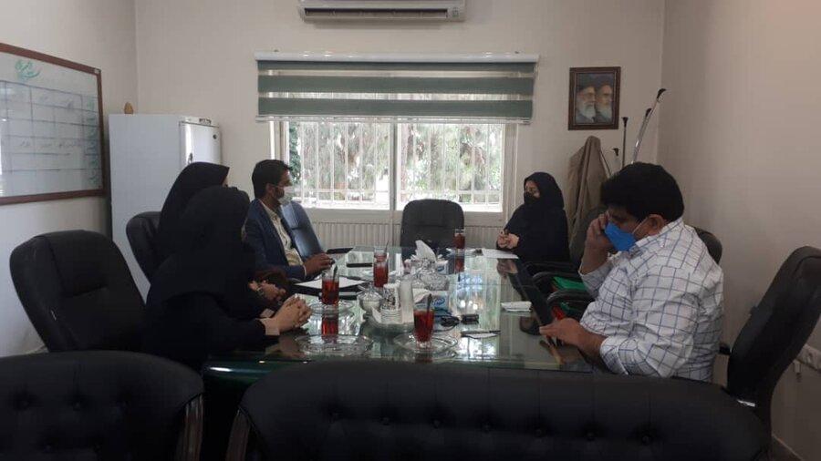 برگزاری نشست دوجانبه مدیر بهزیستی شهرستان با نمایندگان بنیاد برکت استان