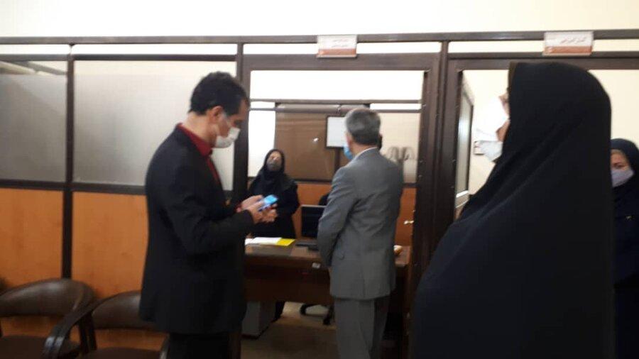 دیدار سرزده فرماندار ویژه ری از ستاد مدیریت بهزیستی شهرستان