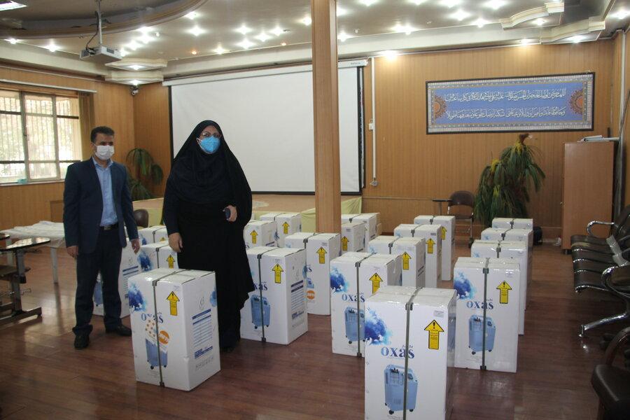 اهدای 22دستگاه اکسیژن ساز به مراکز سالمندان استان