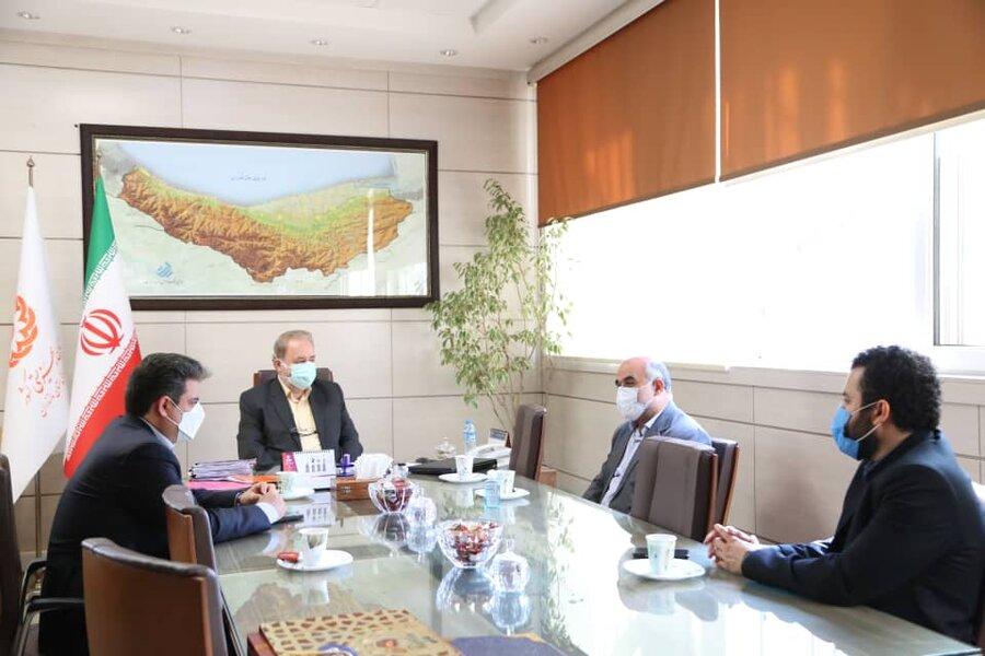 دیدار مدیرعامل شرکت بیمه آتیه سازان مازندران با مدیرکل بهزیستی استان