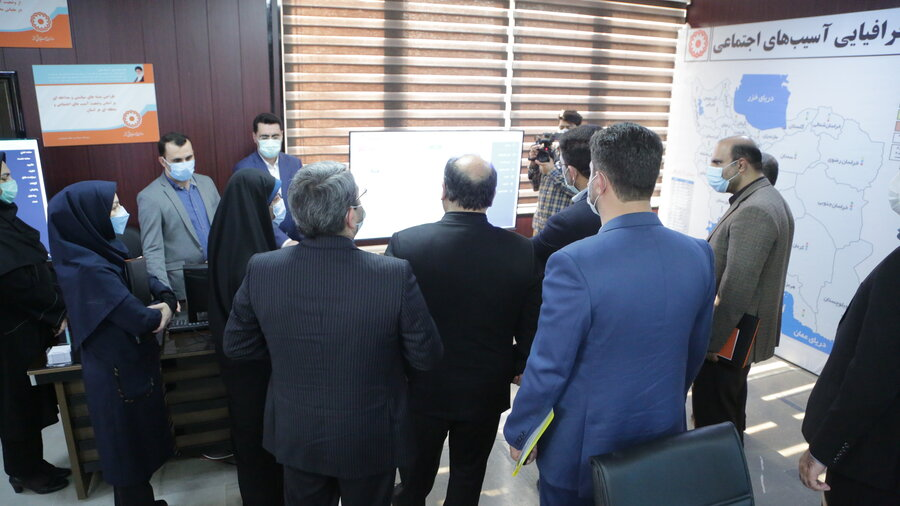 آیین افتتاح دبیرخانه ملی رصد آسیب های اجتماعی