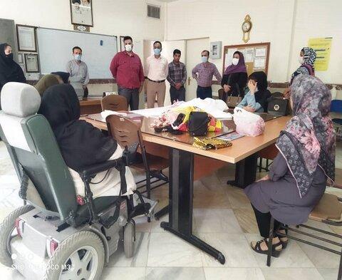 بازدید از کارگاه های فنی و حرفه ای ویژه افراد داری معلولیت و تحت پوشش اداره بهزیستی دیواندره