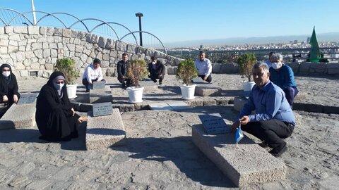 حضور مدیران بهزیستی خراسان رضوی بر مزار شهدای گمنام در جبلالنور
