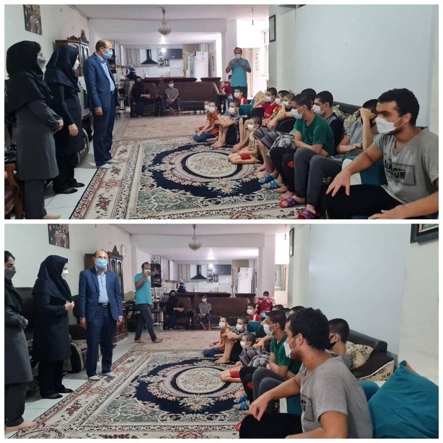 فردیس   بازدید رئیس اداره بهزیستی شهرستان فردیس از مرکز شبه خانواده