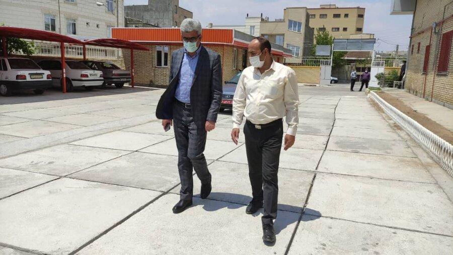 گزارش تصویری/ بازدید فرماندار شهرستان هشترود از اداره بهزیستی