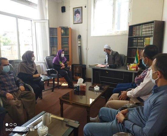 دیدار رئیس اداره بهزیستی دیواندره و جمعی از همکاران با امام جمعه شهرستان