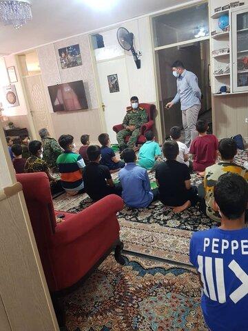 حضور فرماندهان تیپ موسی بن جعفر در مرکز شبه خانواده
