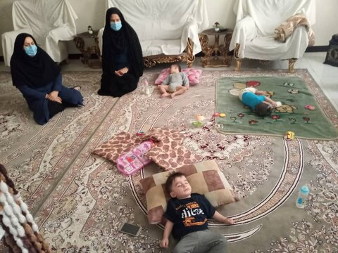 شهرقدس| بازدید از منزل خانواه های دارای فرزند سه قلو