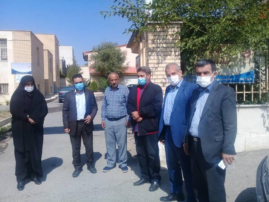 فیروزکوه| بازدید فرماندار از مرکز شنوایی سنجی طرف قرارداد بهزیستی