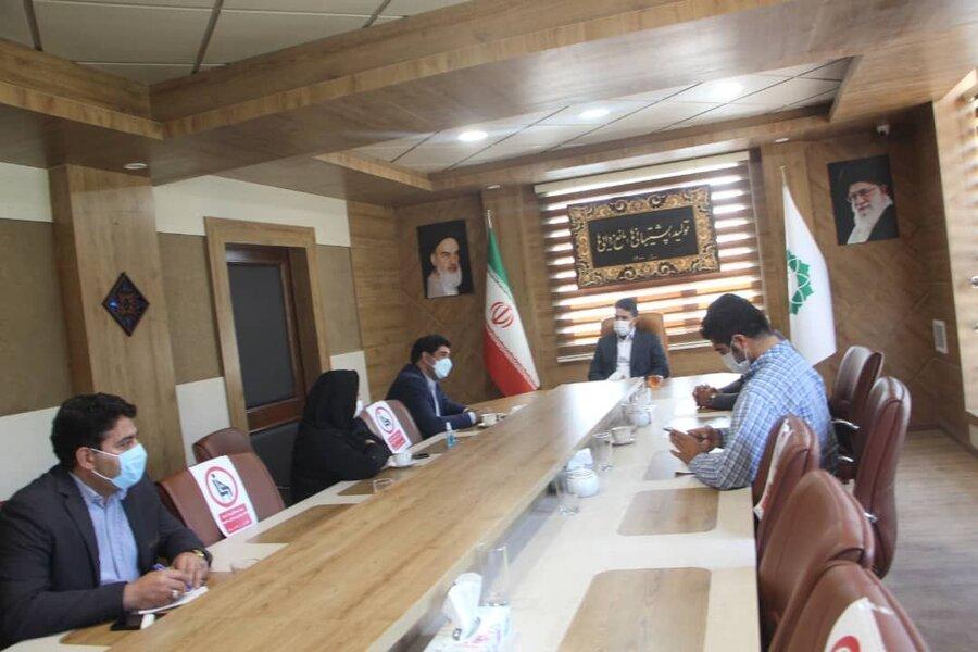 شهریار  نشست صمیمی رئیس بهزیستی با شهردار باغستان