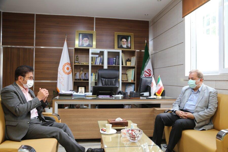 دیدار مدیرکل انتقال خون مازندران با مدیرکل بهزیستی استان