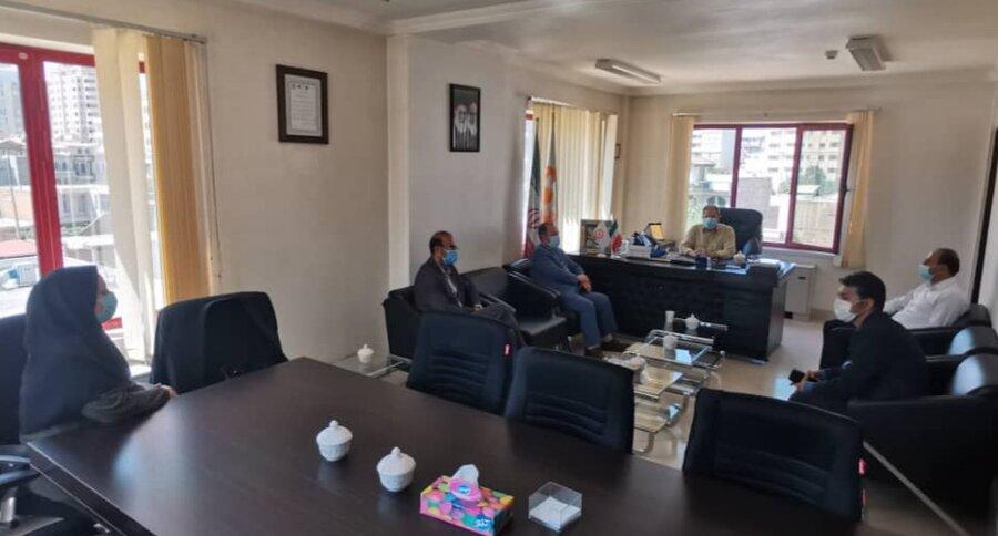 دیدار مدیر شعبه استانی بیمه آتیه سازان حافظ با مدیرکل بهزیستی آذربایجان غربی بمناسبت هفته بهزیستی