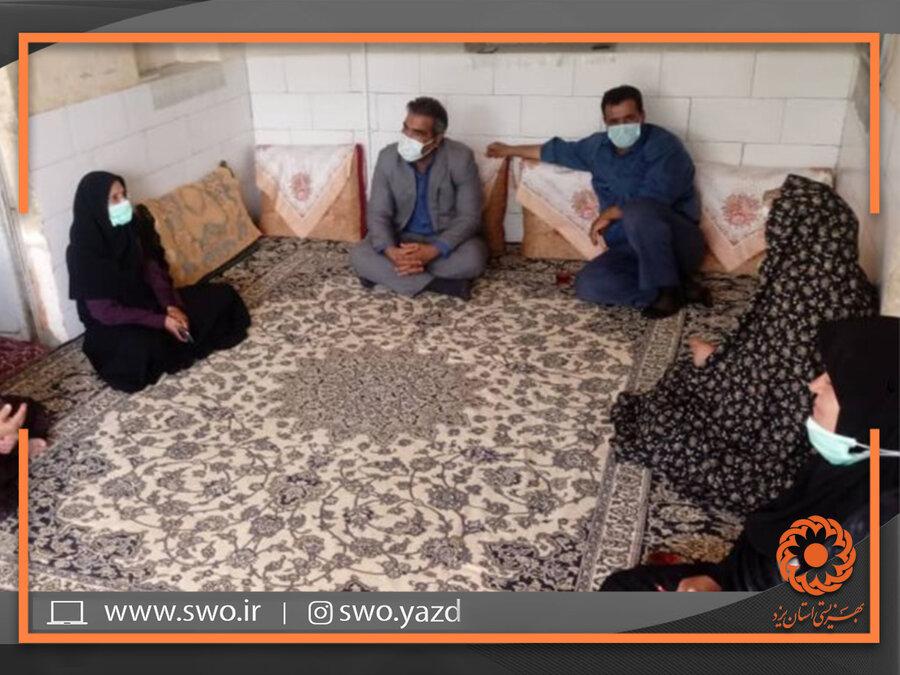 بافق | بازدید از منزل معلولین تحت پوشش شهرستان بافق