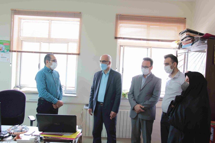 گزارش تصویری | دیدار مدیرکل بهزیستی با پرسنل سید در ستاد استان