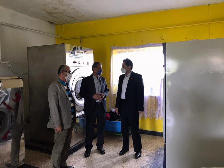 بازدید دکتر حسین نحوی نژاد از آسایشگاه شبانه روزی نگهداری معلولین ذهنی بالای ۱۴ سال غرب گیلان