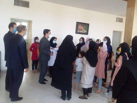 بازدید مدیر کل بهزیستی از مرکز نگهداری کودکان شقایق در اسفراین