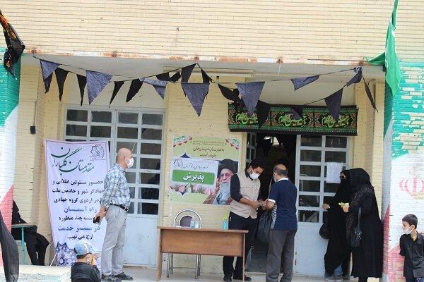تعداد ۱۲۰۰ نفر از جامعه هدف بهزیستی و آحاد مردم در اردوی جهادی غدیر به میزبانی گروه جهادی راه آسمان ویزیت شدند