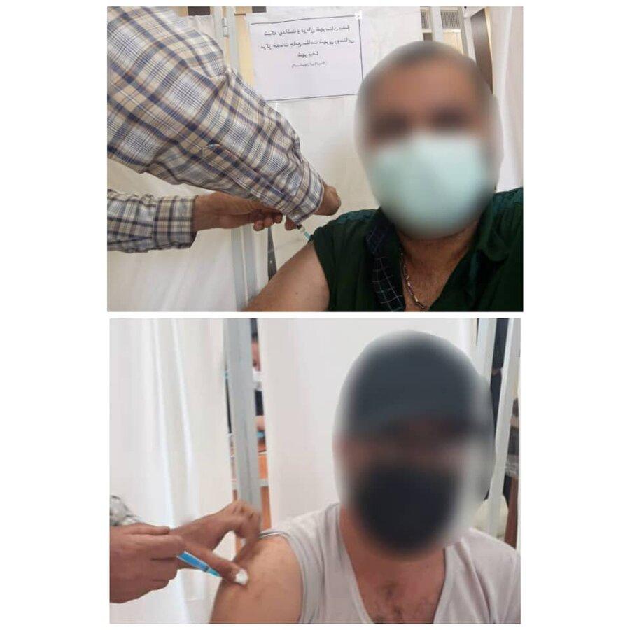 بیضا  تزریق واکسن کرونا به افراد دارای معلولیت