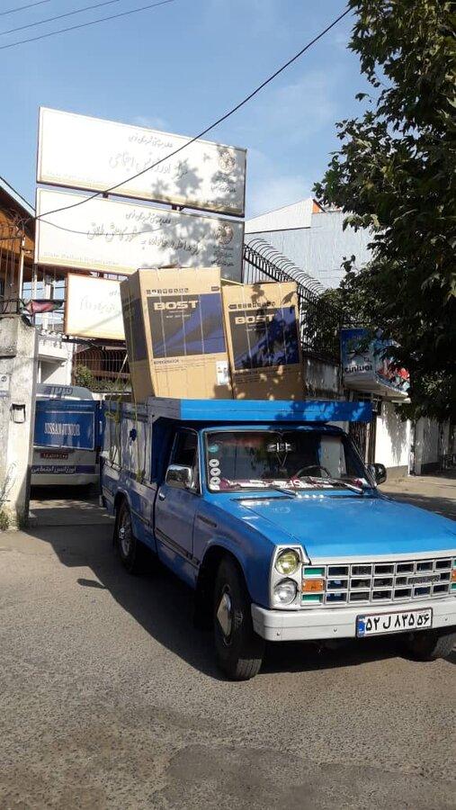 اهدای بیست دستگاه یخچال و پنکه به بهزیستی شهرستان فومن