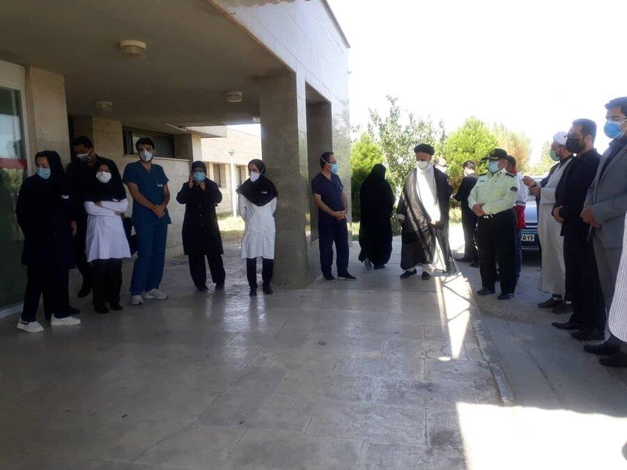 دیداررئیس بهزیستی جاجرم از بیمارستان جوادالائمه به مناسبت روز پزشک