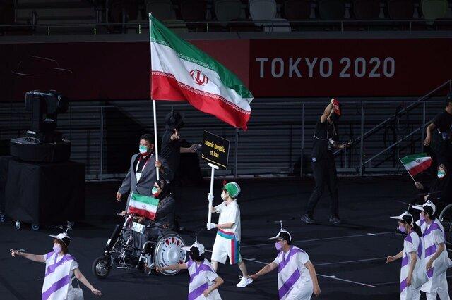Iranian convoy paraded at the opening ceremony of Tokyo Paralympics