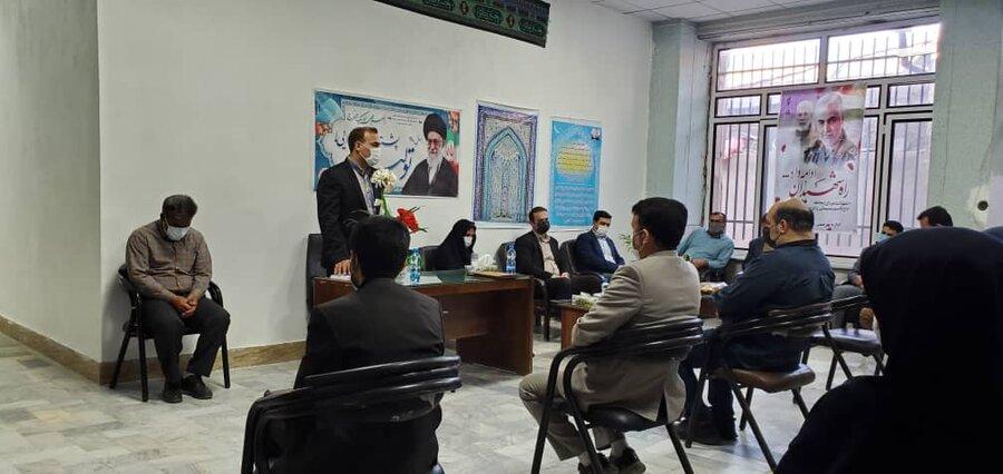 مراسم معارفه رئیس جدید اداره بهزیستی اسفراین برگزار شد