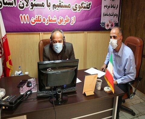 حضور مدیرکل بهزیستی استان کردستان در برنامه سامد ۱۱۱