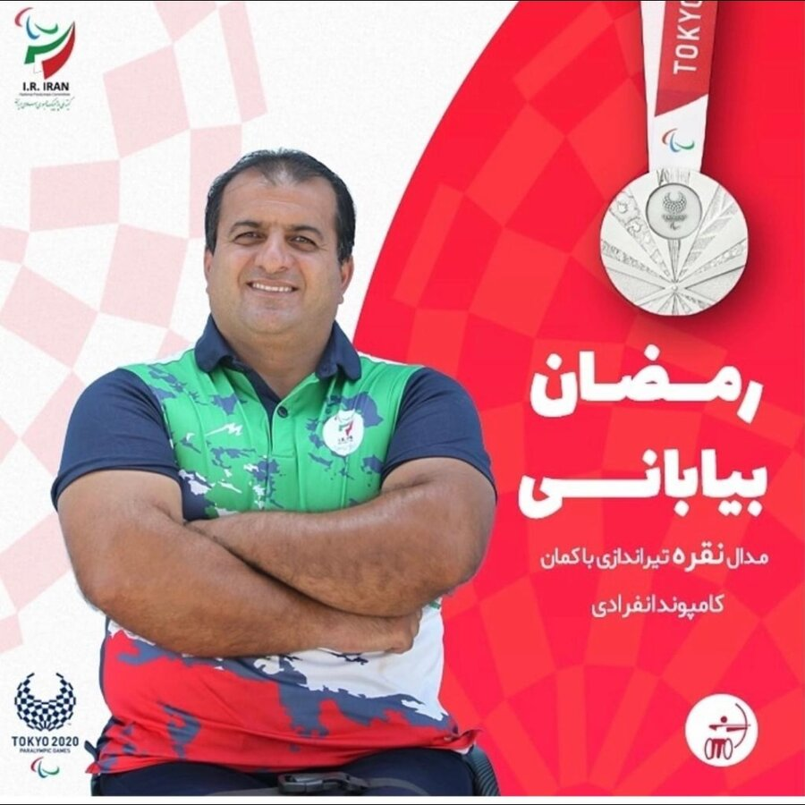 پیام تبریک مدیرکل بهزیستی استان مازندران در پی کسب مدال نقره رمضان بیابانی در مسابقات پارالمپیک توکیو