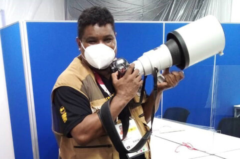 حضور عکاس نابینا در پارالمپیک توکیو
