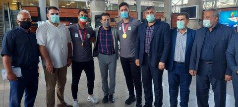 استقبال مدیران سازمان بهزیستی از مدال آوران جودو در پارا المپیک توکیو