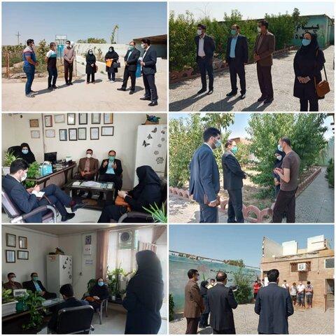 نظرآباد   بازدید از مراکز اقامتی ترک اعتیاد تحت نظارت بهزیستی شهرستان نظرآباد