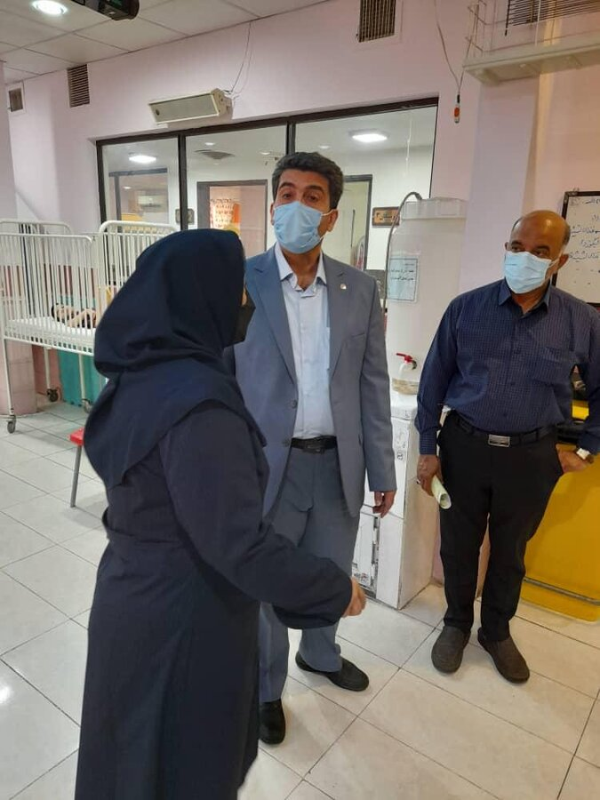 معاون توانبخشی بهزیستی استان تهران از مرکز رفیده دیدن کرد