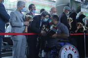 گزارش تصویری| استقبال رئیس سازمان بهزیستی کشور از کاروان پارالمپیک ۲۰۲۰