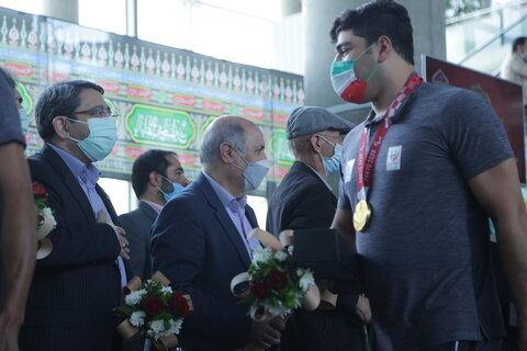 استقبال رئیس سازمان بهزیستی کشور از کاروان پارا المپیک کشور