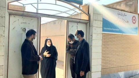 بازدید مدیر کل بهزیستی استان قم از اداره بهزیستی شهرستان کهک
