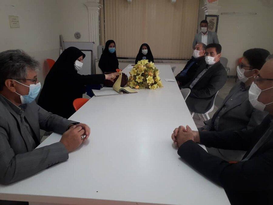 دیدار مدیرکل بهزیستی استان با فرماندار شهرستان کوثر