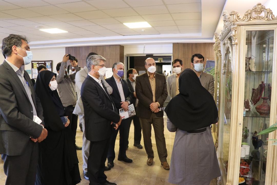 افتتاح نمایشگاه توانمندی های توانخواهان مرکز رعد کرمان