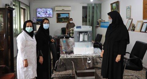 آمل ׀ اهداء یک دستگاه اکسیژن ساز به مرکز توانبخشی فجر شهرستان آمل