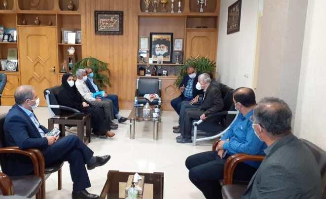دیدار مدیر عامل جامعه نابینایان و کم بینایان استان مازندران با مدیر کل بهزیستی اصفهان