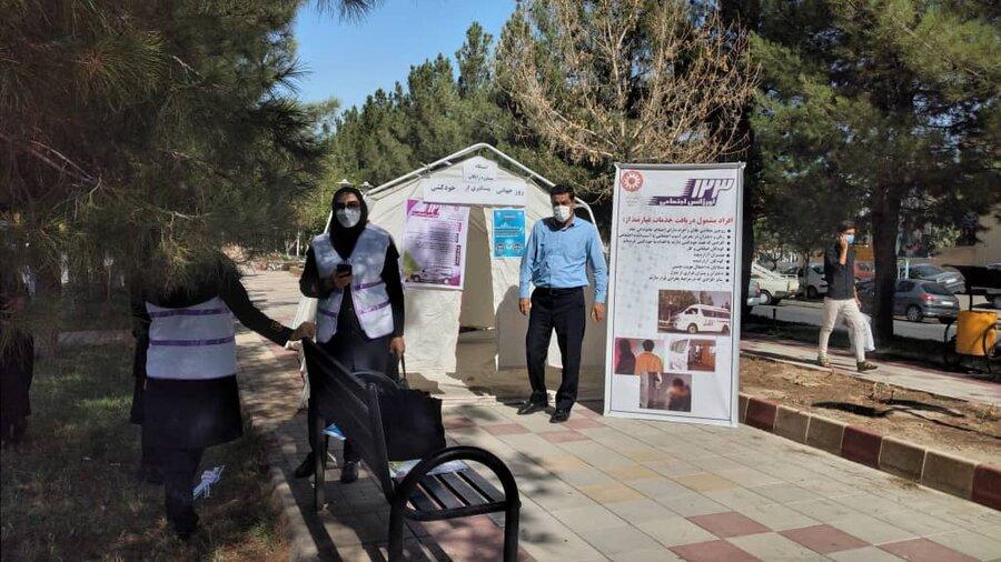 گزارش تصویری/ برپایی ایستگاه مشاوره رایگان در شهرستان ملکان