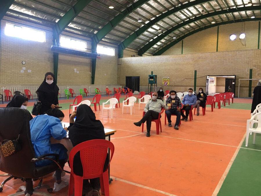 ملارد  واکسیناسیون کارکنان بهزیستی علیه کرونا