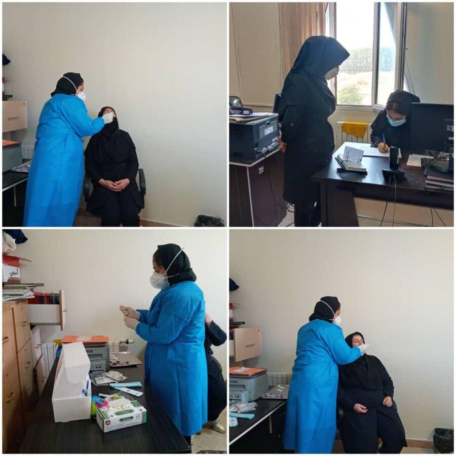 نظرآباد | تمامی پرسنل بهزیستی نظرآباد تست کووید ۱۹ دادند