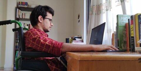 گفتوگو با معلولی که رتبه دوم کنکور کارشناسی ارشد شد