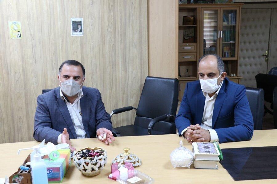 نشست مدیرکل بهزیستی گیلان با فرماندار شهرستان خمام