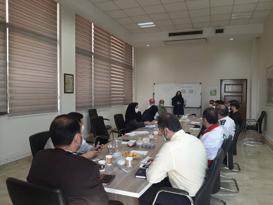 شمیرانات| برگزاری مانور دور میزی با موضوعیت زلزله در بهزیستی