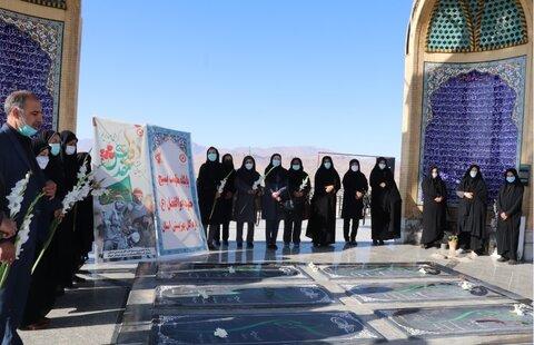 گزارش تصویری| برگزاری زیارت عاشورا به مناسبت هفته دفاع مقدس