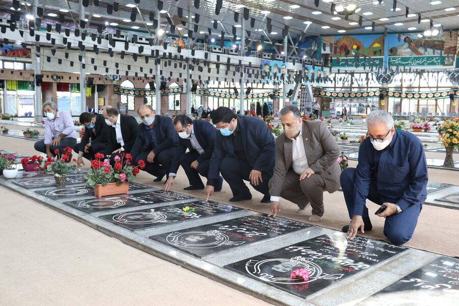 تجدید میثاق با آرمانهای شهدای انقلاب اسلامی به مناسبت گرامیداشت هفته دفاع مقدس