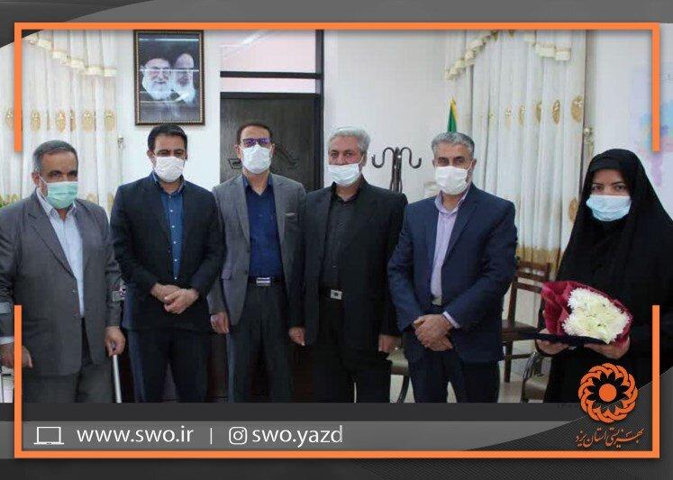 بهاباد | مراسم تکریم و معارفه سرپرست جدید اداره بهزیستی شهرستان بهاباد برگزار شد