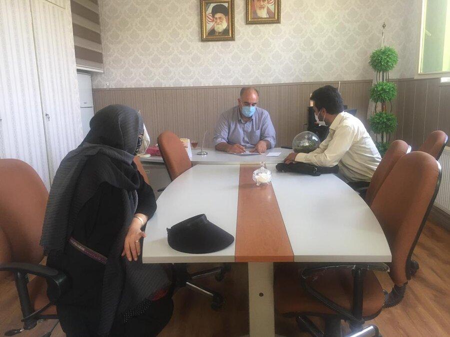 پاکدشت  دیدار رئیس بهزیستی با همکاران موسسه رعد الغدیر