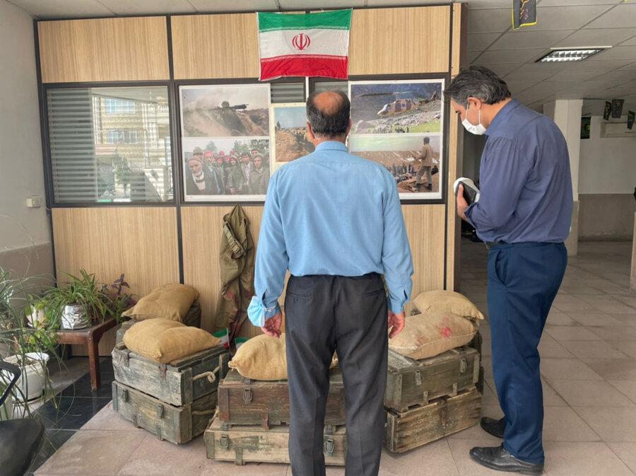 ملارد  برگزاری نمایشگاه دفاع مقدس در اداره بهزیستی شهرستان